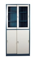 Four Door Sliding Semi Glass Cabinet PJFC 02C